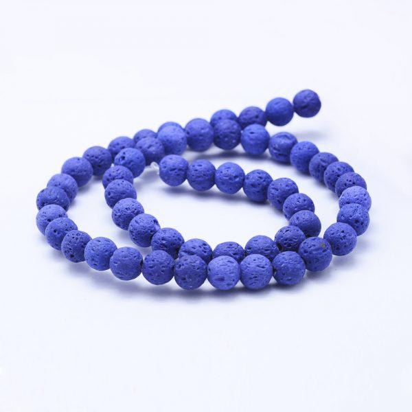 Dark Blue Lava Bead 8mm