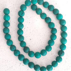 Green Lava Beads 8mm