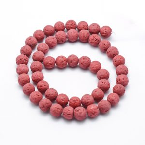 Red Lava Beads 8mm