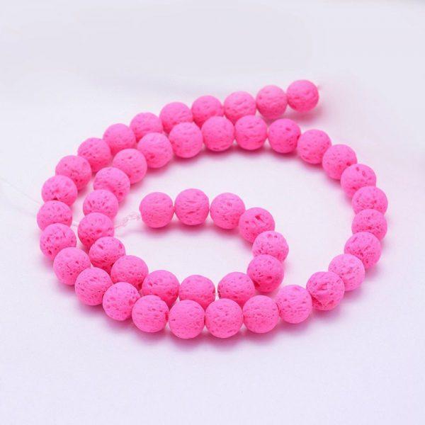 Lava beads Pink 8mm