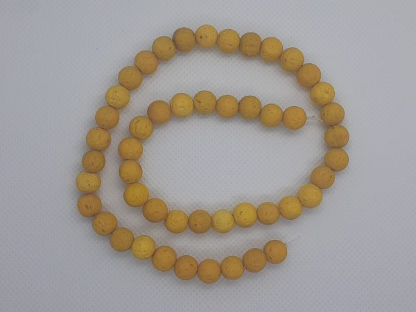Yellow Lava Beads 8mm