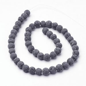 Natural Lava Beads 8mm