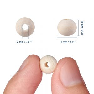 Wooden Beads 8mm Round Natural