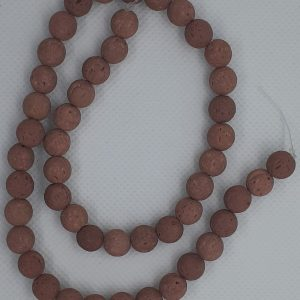 Brown Lava Beads 8mm