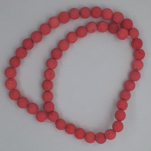 Coral Pink Lava Beads 8mm
