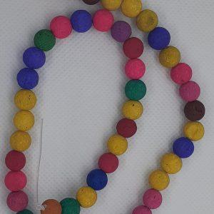 Multi Coloured Lava Beads