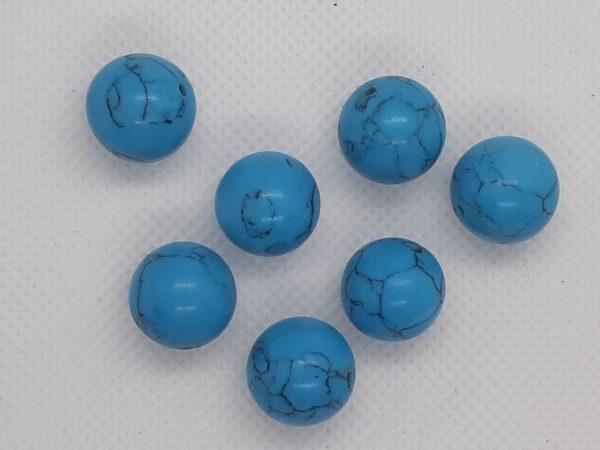14mm Blue Howlite Round