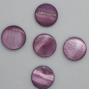 PEARL SHELL Purple Coin 20mm MOSAICS