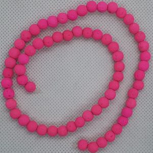 Lava Beads 6mm Pink