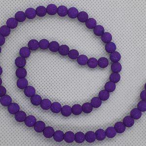 Lava Beads 6mm Purple
