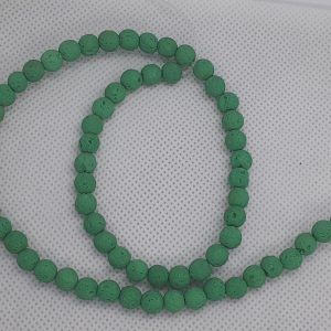Teal Lava Beads 6mm