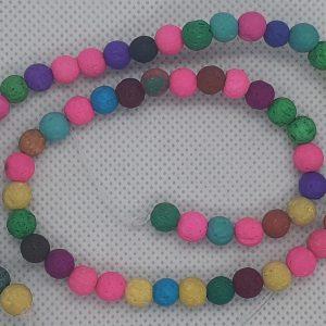 Multi Coloured Lava Beads 6mm