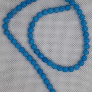 Lava Beads 6mm Blue