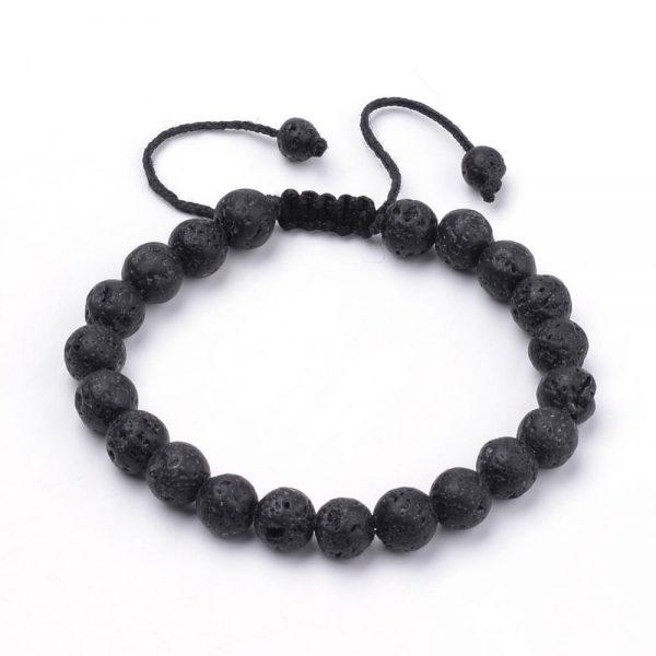 Natural Lava Braided Bead Bracelets
