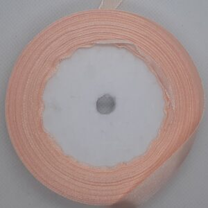 peach satin ribbon